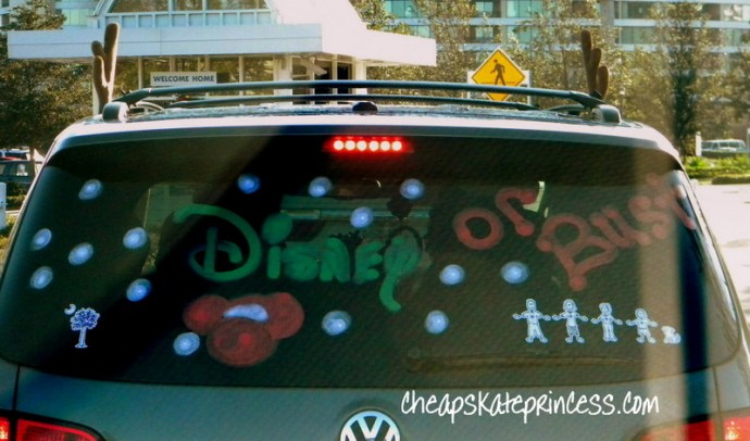 Disney Christmas decorated car