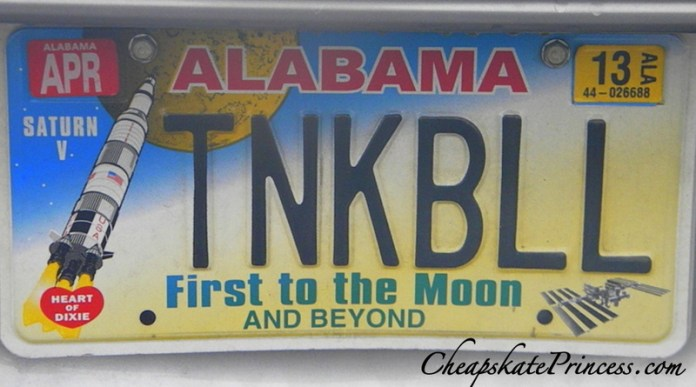 Disney Tinker Bell car tag