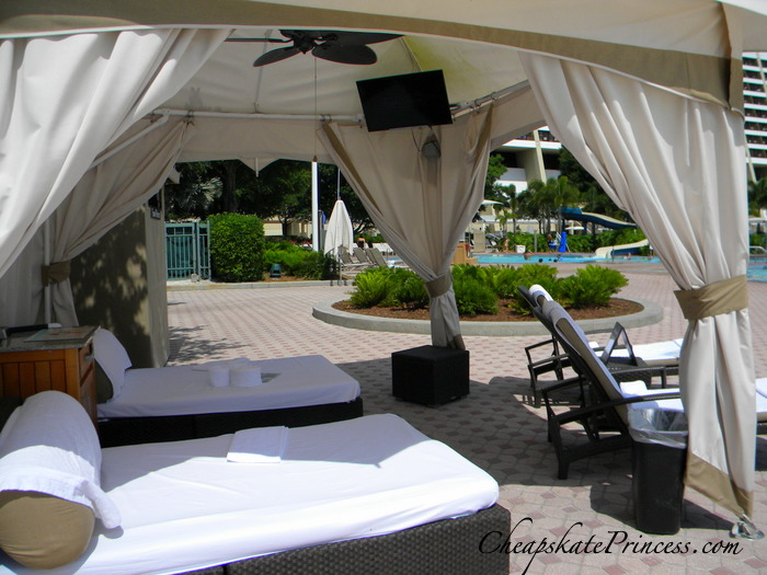 Pool cabana price for the Contemporary Resort in POrlando