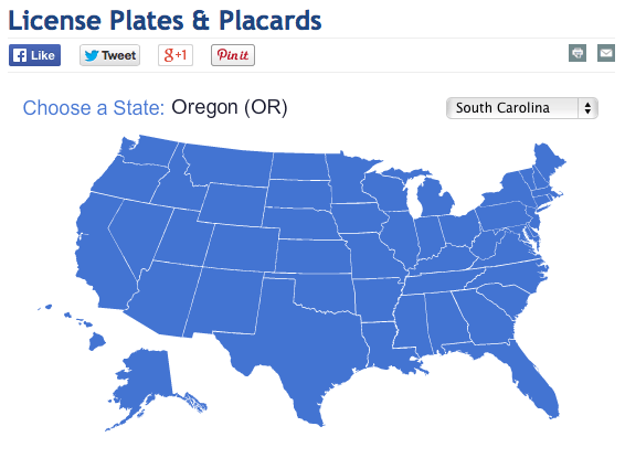 cost of license tags by state