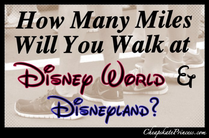 how many miles will you walk at Disney parks