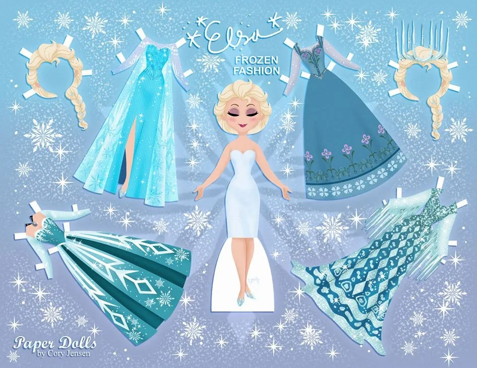 Elsa Disney Frozen paper doll