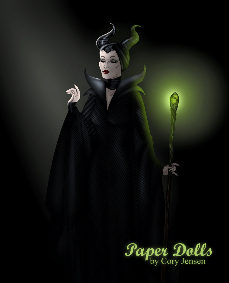 Maleficent Paper dolls by Cory Jensen