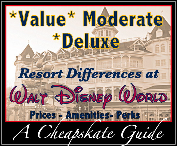 resort level differences at Disney World