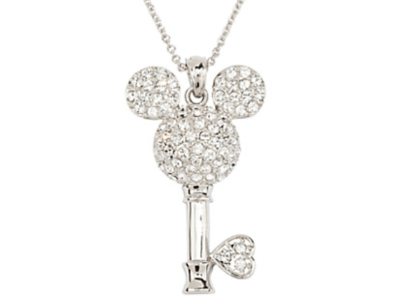 Mickey Mouse Crystal Key Necklace