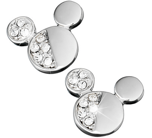 Mickey Mouse Icon Half Crystal Earrings