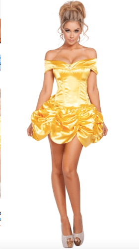 Sexy Beauty and Beast Belle Disney Costume for party