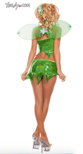 Tinker Bell Disney costume for adult Halloween party