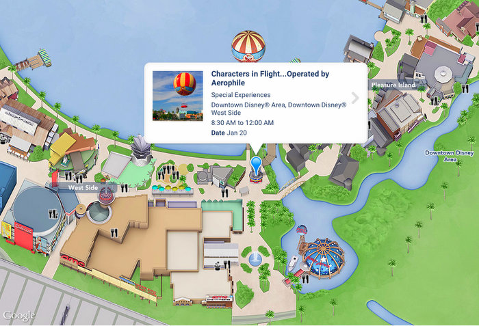 where is Disney Springs Characters in Flight located