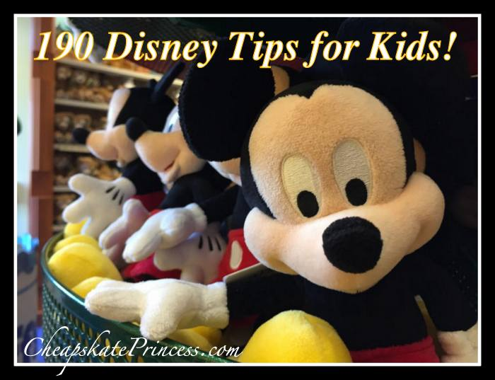 190 tips for kids on a Disney World vacation