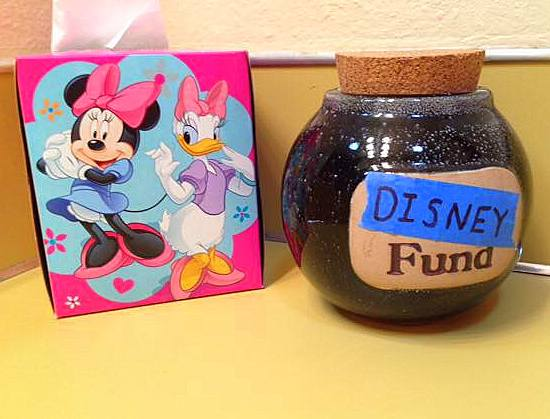 Disney vacation fund jar
