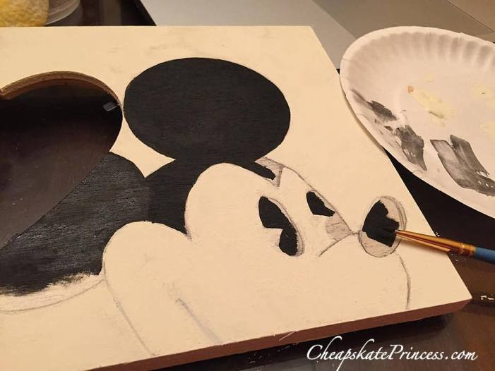 how to paint Mickey Mouse Disney art project