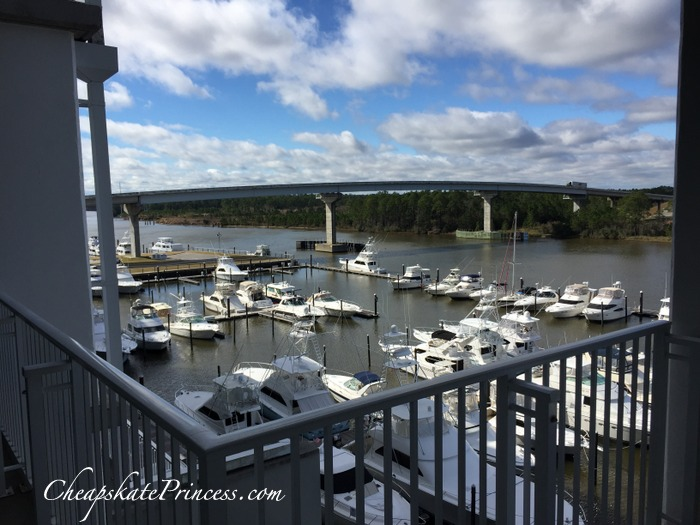 condo balcony on the Intercostal waterway Wharf condo
