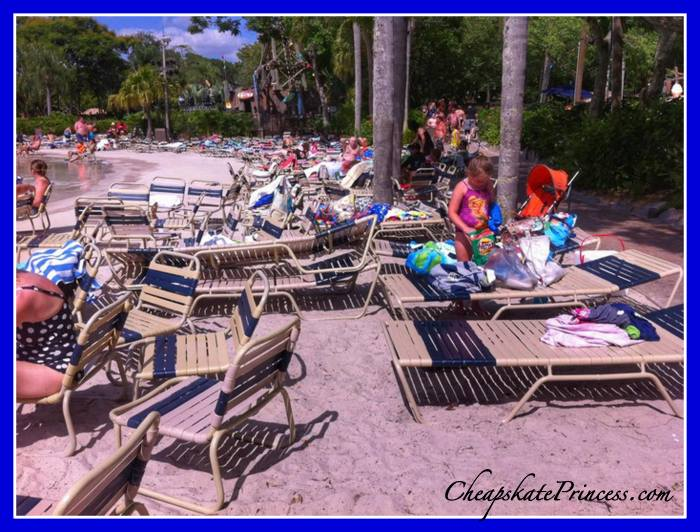 tips to find a chair at a Disney World water park