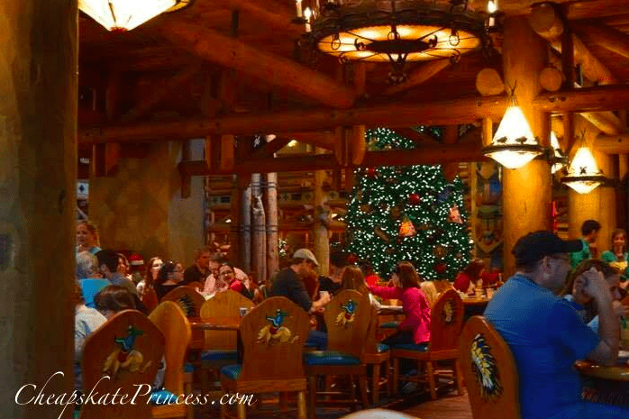 Whispering Canyon Cafe at Christmas