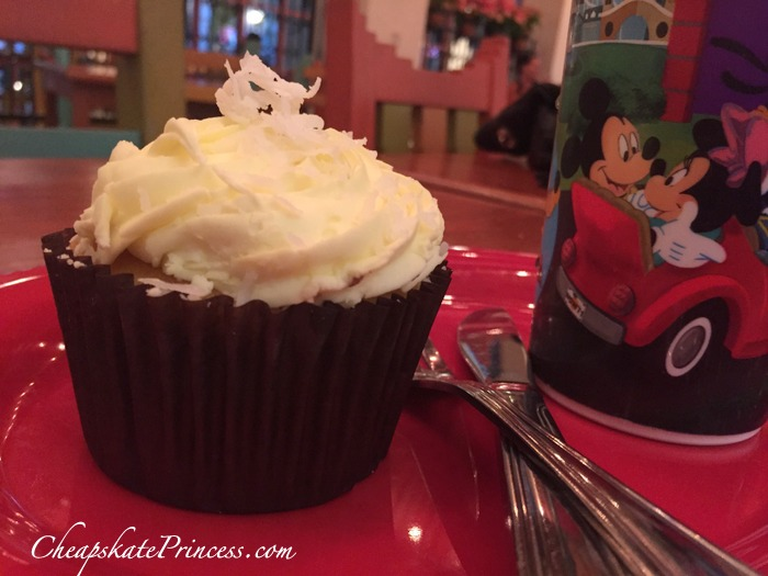 lemon cupcake snack from Disney World