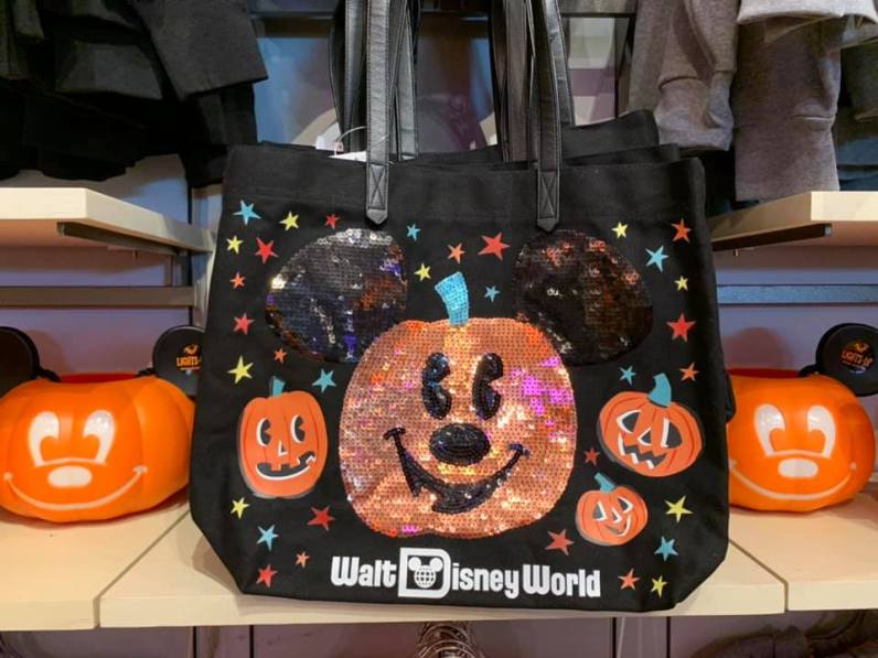 Disney sparkle Halloween bag for trick or treating