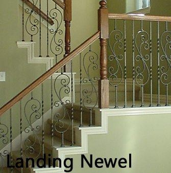Different Types Of Newel Posts Cheap Stair Parts | Handrail To Newel Post | Fasten | Baluster | White Oak | Glass Balustrade | Landing