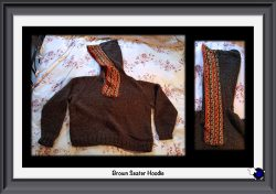 Knitted Brown Hoodie Sweater