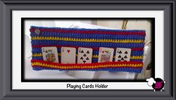 Crochet Playing Cards Holder