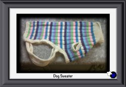 Knitted Striped Dog Sweater