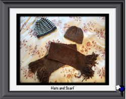 Knitted Alpaca Hats and Scarf