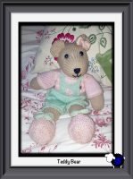 Knitted Pink Teddy Bear