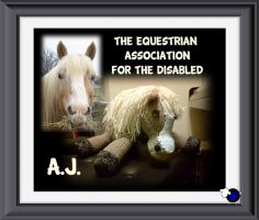 Knitted Horse for The Equestrian Association for the Disabled