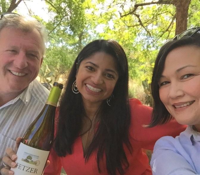 Bob Blue, Sumona Pramanik - Head of Marketing, and moi.