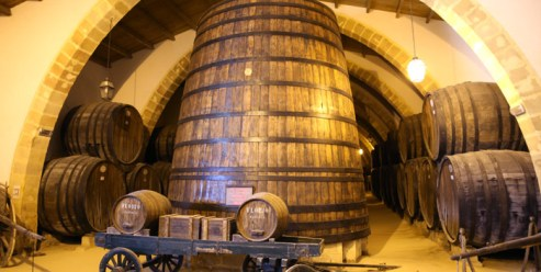 Historic casks at Florio