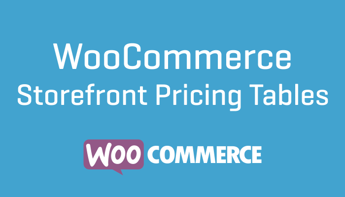 WooCommerce Storefront Pricing Tables