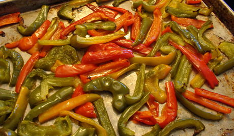 oven roasted peppers