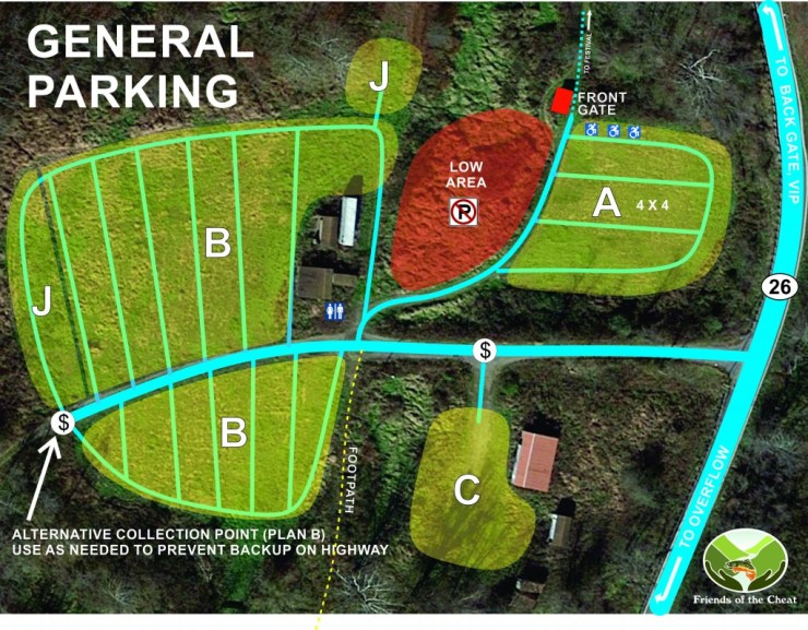 Cheatfest 2018 - general parking map