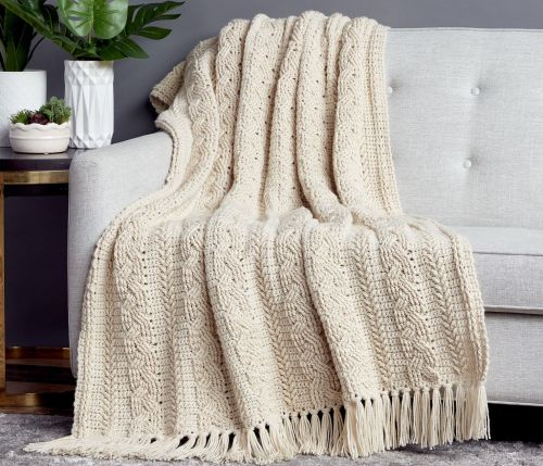 BRAIDED CABLE BLANKET