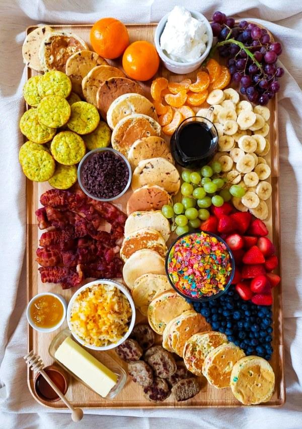 pancake breakfast charcuterie board