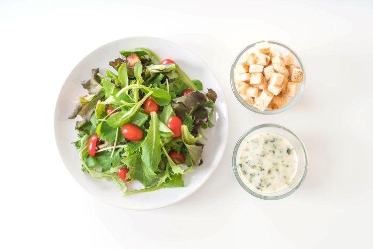 unhealthy food advertised as healthy packaged salad