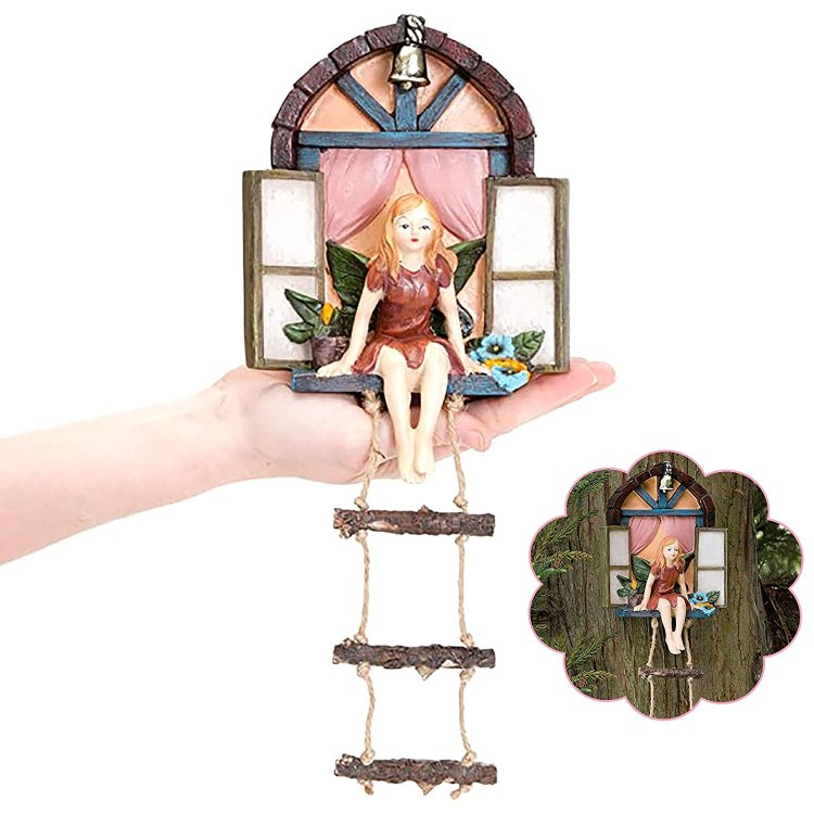 Fairy Window With Ladder for Trees