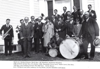 Band in Front of Church 1927