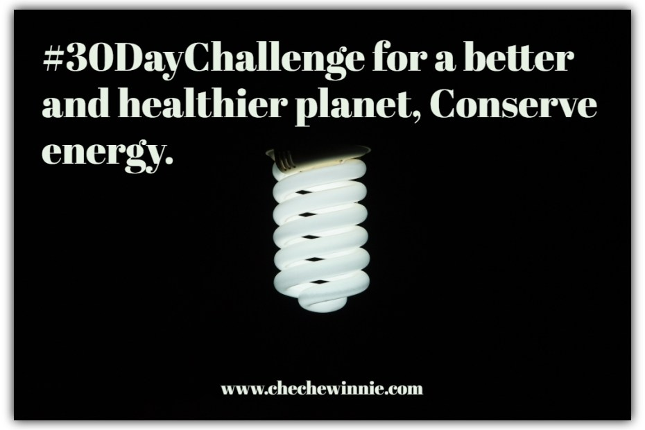 #30DayChallenge for a better and healthier planet, Conserve energy.