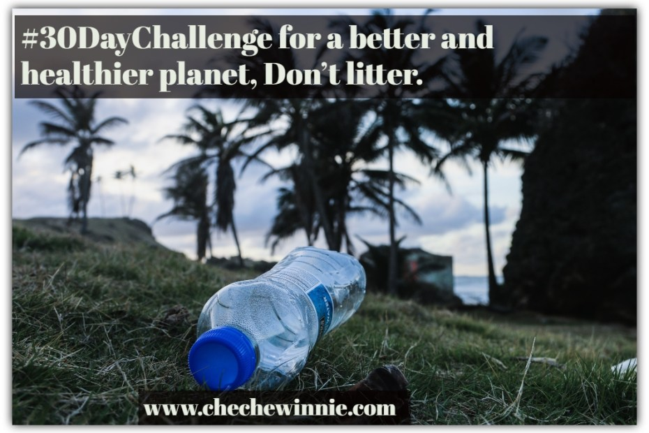 #30DayChallenge for a better and healthier planet, Don't litter.