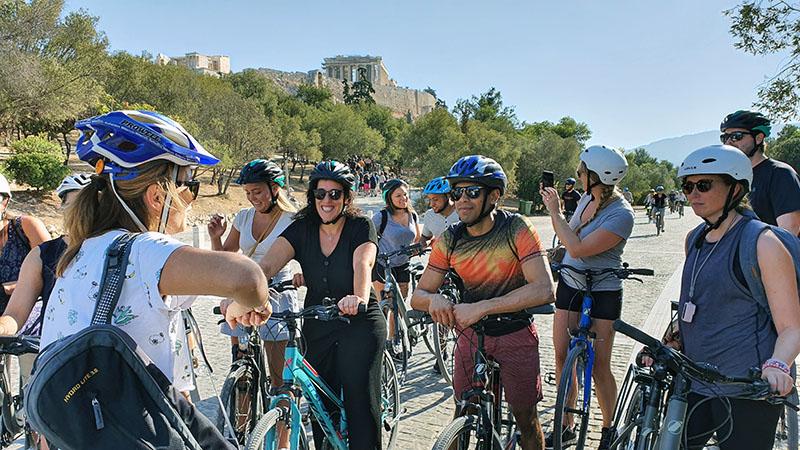 סיור אופנים באתונה