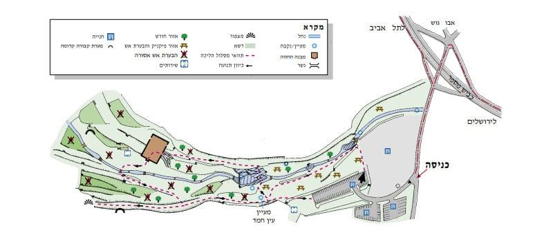 מפה גן לאומי עין חמד
