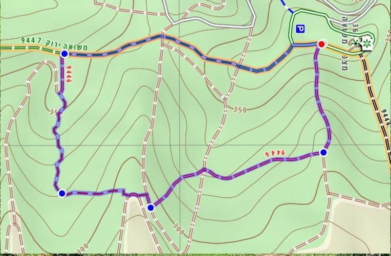 מפה של שביל סובב מצפה משואה