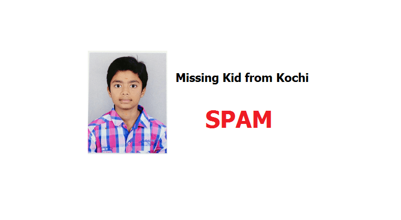 (SPAM) Prajith Studying in 7th STD Missing from Kochi