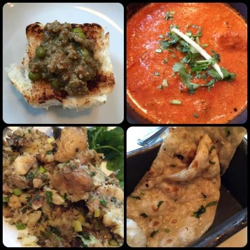 Various dishes available at Dishoom - London, England