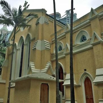 Exterior of St. John's Cathedral - Hong Kong, China