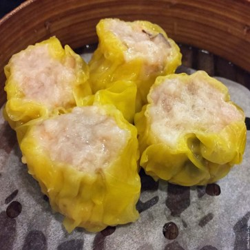 Shao Mai (steamed pork dumplings with shrimp) at a Tim Ho Wan in Hong Kong, China