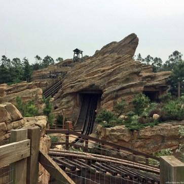 Big Grizzly Mountain Runaway Mine Cars ride in Grizzly Gulch - Hong Kong Disneyland, Hong Kong, China
