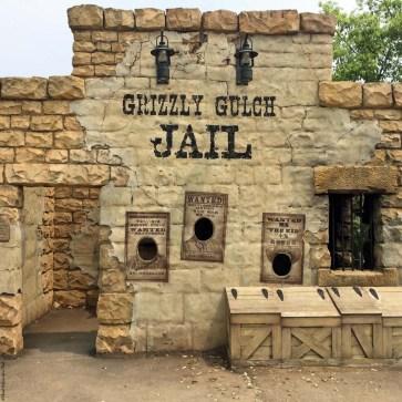 Old West jail in Grizzly Gulch - Hong Kong Disneyland, Hong Kong, China