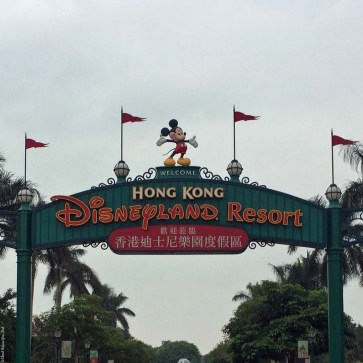 Welcome sign for the Hong Kong Disneyland Resort - Hong Kong Disneyland, Hong Kong, China